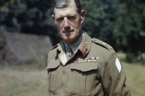 LIEUTENANT GENERAL J T CROCKER, CB, CBE, DSO, MC, COMMANDER OF 1ST CORPS, FRANCE, AUGUST 1944