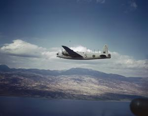 ROYAL AIR FORCE WELLINGTON FLIES TO DROP AID TO CUT-OFF GREEK TOWNS, FEBRUARY 1945