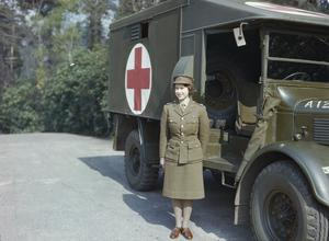 HRH PRINCESS ELIZABETH IN THE AUXILIARY TERRITORIAL SERVICE, APRIL 1945