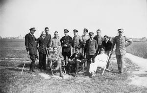 SERVICE OF MAJOR J W SHAW MBE WITH THE ROYAL FLYING CORPS, AND AS A PRISONER-OF-WAR, 1917