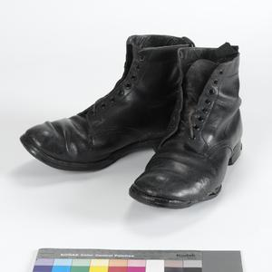 Boots, ankle length, black, O/Rs (British)