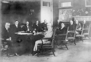THE AMERICAN WAR CABINET IN WASHINGTON, 1918
