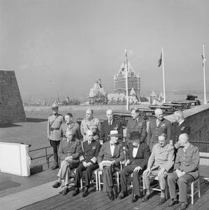 WINSTON CHURCHILL AT THE SECOND QUEBEC CONFERENCE, SEPTEMBER 1944