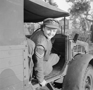 AT AN ATS MOTOR TRANSPORT COMPANY TRAINING CENTRE, CAMBERLEY, SURREY, 1942