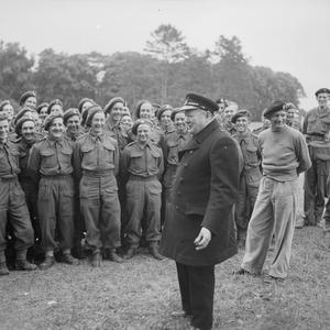 WINSTON CHURCHILL VISITS NORMANDY, JULY 1944