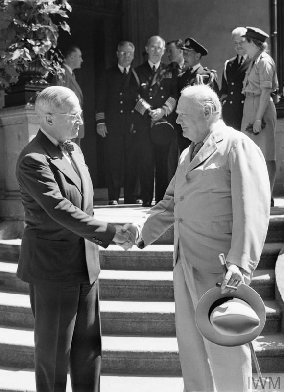 POTSDAM CONFERENCE, GERMANY, JULY 1945