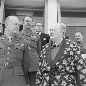 WINSTON CHURCHILL DURING THE SECOND WORLD WAR IN NORTH AFRICA