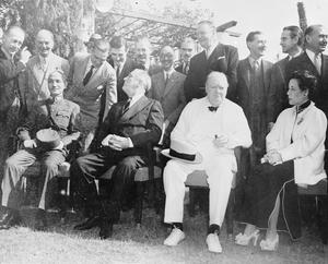ROOSEVELT, CHURCHILL AND CHIANG KAI-SHEK MEET AT THE CAIRO CONFERENCE, NOVEMBER 1943