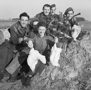 BRITISH FORCES CELEBRATE CHRISTMAS IN VENRAY, HOLLAND, 24 DECEMBER 1944