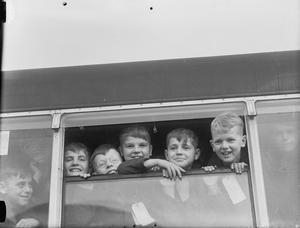 DUTCH CHILDREN AT WARMSWORTH CAMP, NEAR DONCASTER, ENGLAND, 1945