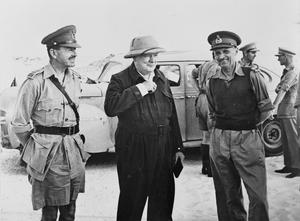 WINSTON CHURCHILL IN NORTH AFRICA, AUGUST 1942