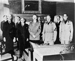 THE MUNICH AGREEMENT, SEPTEMBER 1938