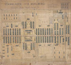 Plan of the Layout of Stalag IVB, Muehlberg POW Camp