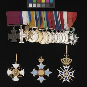 order, Breast Badge and Ribbon of a Knight of The Order of The Crown of Italy