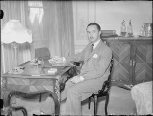HIS ROYAL HIGHNESS THE EMIR ABDUL ILLAH, REGENT OF IRAQ, LONDON, ENGLAND, UK, JULY 1945