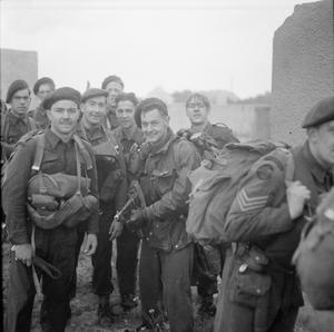 D-DAY - BRITISH FORCES DURING THE INVASION OF NORMANDY 6 JUNE 1944
