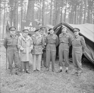 FIELD MARSHAL MONTGOMERY VISITS CANADIAN TROOPS IN THE KLEVE - GOCH SECTOR, GERMANY, FEBRUARY 1945