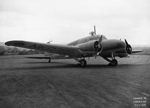 AIRCRAFT OF THE ROYAL AIR FORCE 1939-1945: AVRO 652A ANSON.