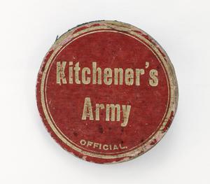 badge, headdress, Kitchener's Army
