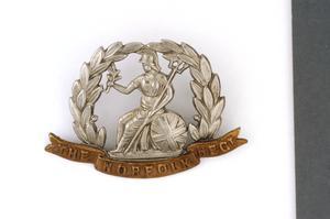 badge, headdress, British, Norfolk Regiment