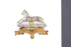 badge, headdress, British, West Yorkshire Regiment (Prince of Wales's Own)