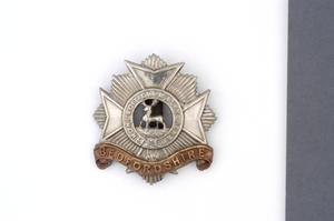 badge, headdress, British, Bedfordshire Regiment