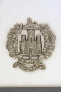 badge, headdress, British, 3rd Volunteer Battalion, The Essex Regiment, other ranks