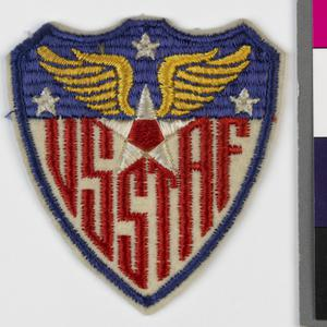 badge, formation, Higher Command, USA, shoulder sleeve insignia, United States Strategic Air Forces in Europe (USSTAF)