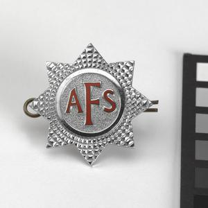 badge, headdress, British, Auxilliary Fire Service
