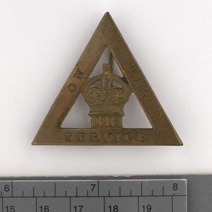badge, civilian, British, On War Service, female