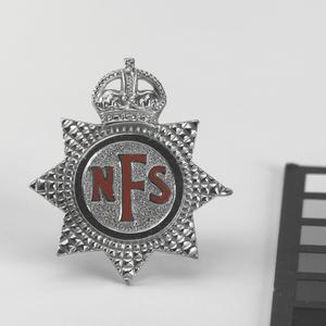 cap badge, National Fire Service.