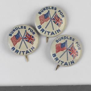 badge, civilian, British, Bundles for Britain