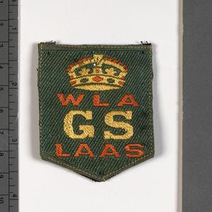 badge, service, British, Women's Land Army and Land Army Agricultural Section good service badge