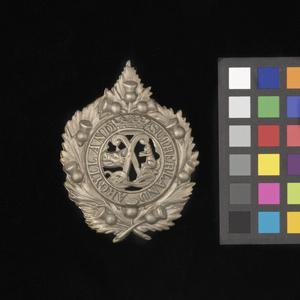 badge, headdress, British, Argyll and Sutherland Highlanders (Princess Louise's)