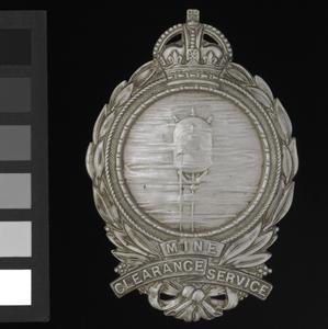 badge, trade, British, Royal Navy, Mine Clearance Service