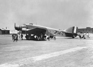 RAF CAPTURE ITALIAN BOMBER