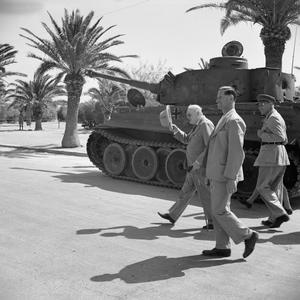 CHURCHILL BREAKS JOURNEY HOME TO VISIT NORTH AFRICA