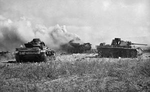 6 POUNDERS DRIVE NEW GERMAN MK.3 SPECIALS BACK IN SOUTH TUNISIA