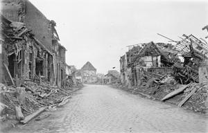RUINS OF BELGIAN VILLAGE SCENES: BAILLEUL MARCH 1919