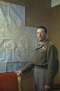 THE COMMANDER IN CHIEF, ALLIED ARMIES IN ITALY, GENERAL SIR HAROLD ALEXANDER, IN CASERTA, ITALY, 4 MAY 1944