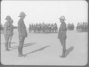 PRESENTATION OF FRENCH DECORATIONS TO BRITISH TROOPS IN EGYPT BY GENERAL BAILLOUD [Main Title]