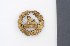 badge, headdress (back-badge), British, Gloucestershire Regiment