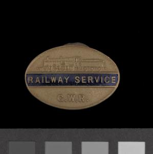 badge, civilian, Great Western Railway worker