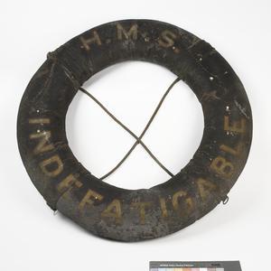 Equipment, Lifebelt (HMS Indefatigable), British