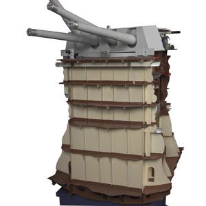 "Sectioned Model of Mark III Quadruple ""A"" Mounting (turret) For 14"" Mark VII Guns"
