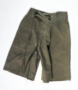 Pair Jungle Green Drill Shorts