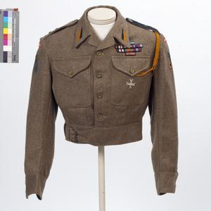 Blouse, Battledress, 1940 pattern: Lieutenant, 1st Polish Armoured Regiment
