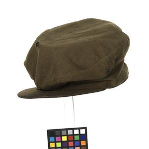 officer's service dress cap, khaki, altered for disguise, prisoner of war