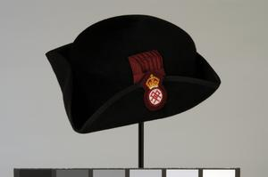 hat, tricorne, black velour, SSAFA Nursing Service