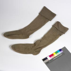 Socks, khaki (long): British